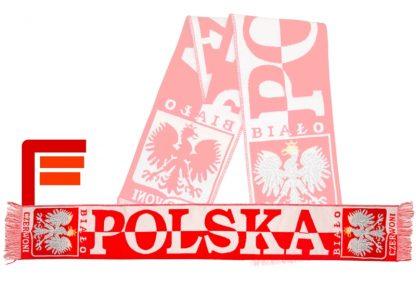 Szalik kibica reprezentacji Polski jednostronny tkany